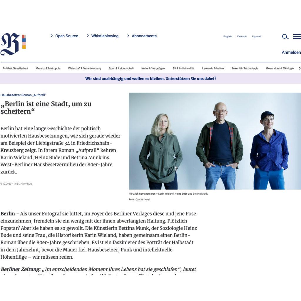 Berliner Zeitung feullieton