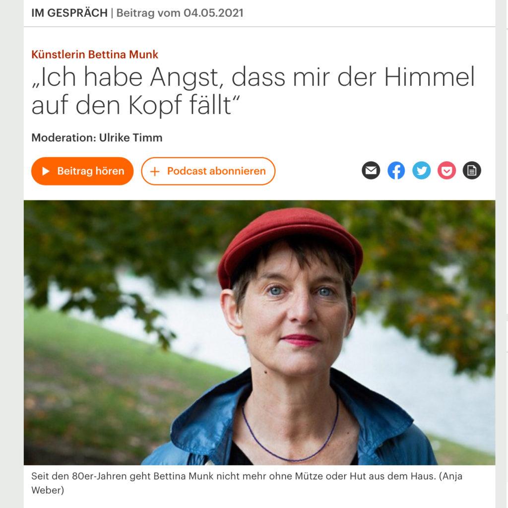 DLF Kultur im Gespräch 4. 5. 21 Bettina Munk